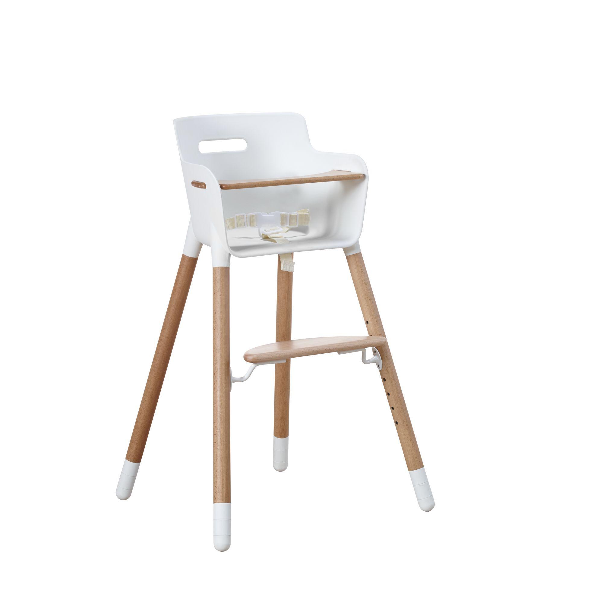 Hoge Eetstoel Baby.High Chair Eetstoel Wit Hout Room4kids