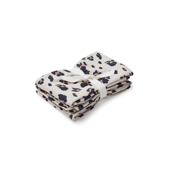 Hannah Muslin Cloth Print / 2 pack - Leo beige beauty