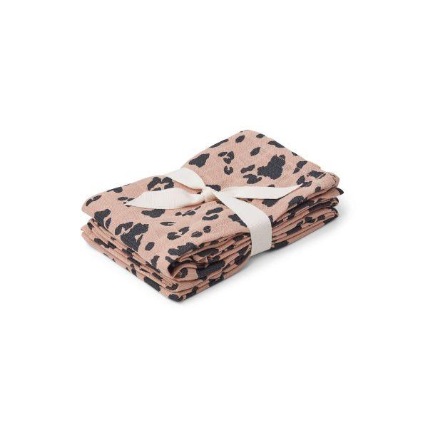 Hannah Muslin Cloth 2 Pack / Leo Rose