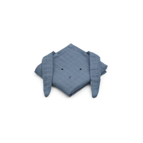 Hannah Muslin Cloth 2 Pack Rabbit / Blue Wave