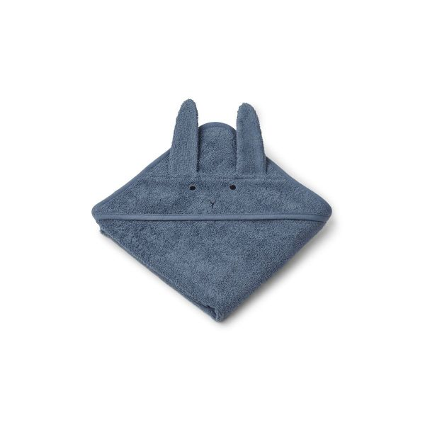 Albert Hooded Towel / Rabbit Blue Wave