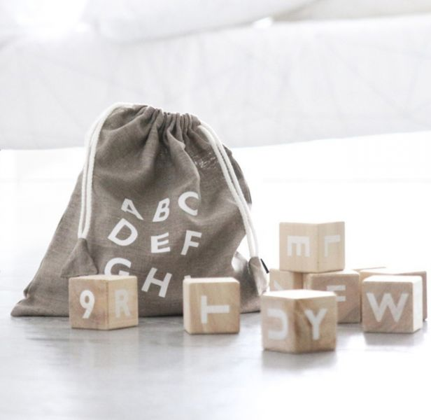 Alphabet blocks / White