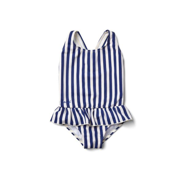 Amara Swimsuit / Stripe Navy - Creme