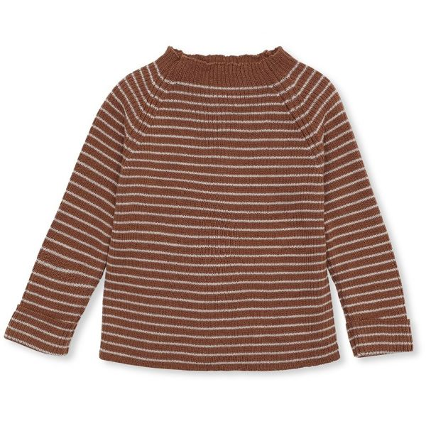 Meo Knit Blouse Rib / Toffee - Beige