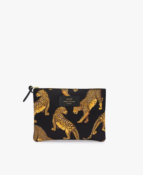 Large Pouch / Black Leopard