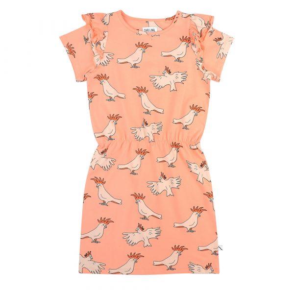 Parrot Ruffled Dress