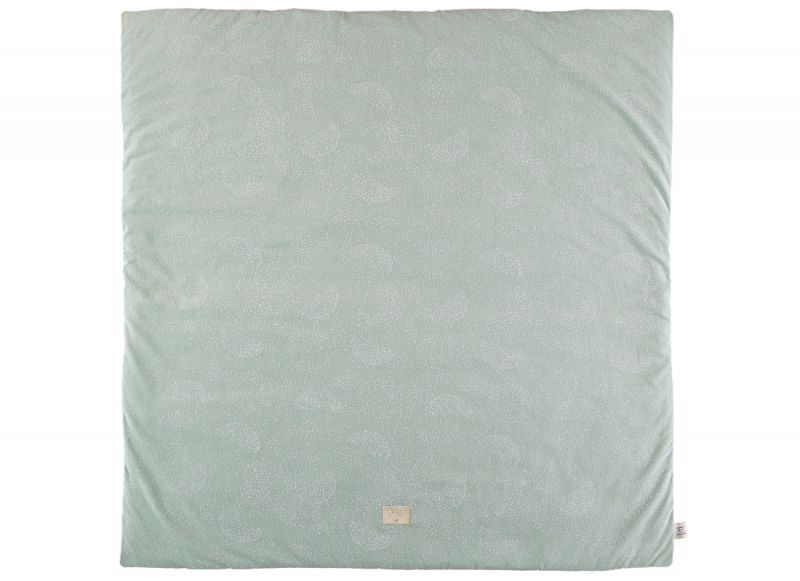 Colorado Square Playmat / White Bubble - Aqua
