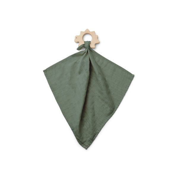 Dines Teether Cuddle Cloth / Faune Green