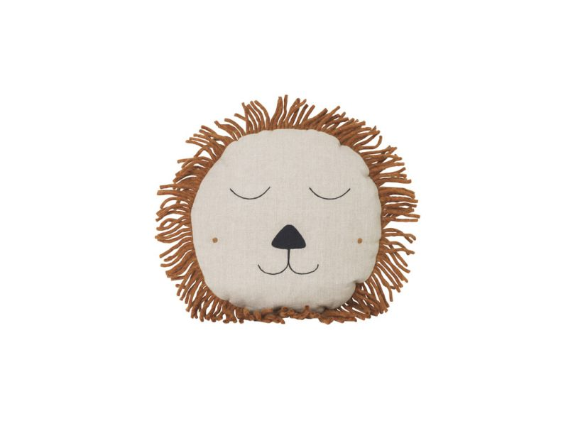 Safari cushion Lion / Natural