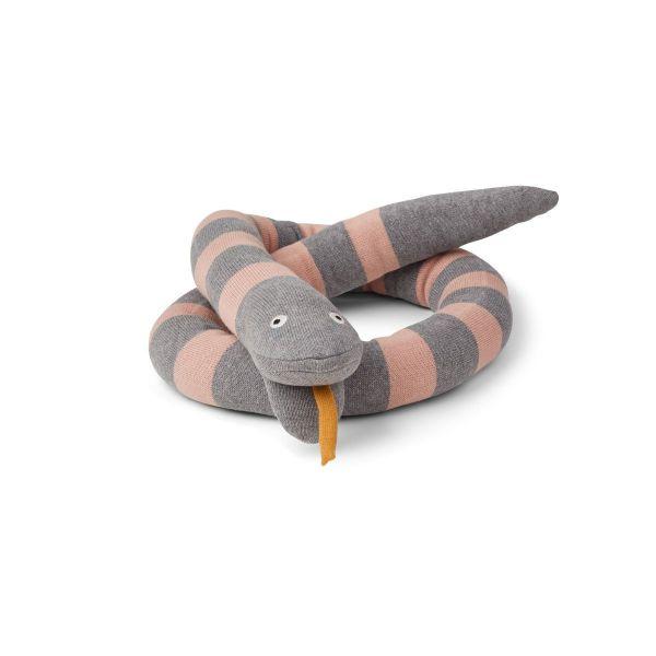 Fillippa Knitted Snake / Grey - Rose