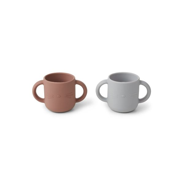 Gene Cup 2-pack / Cat Dumbo Grey