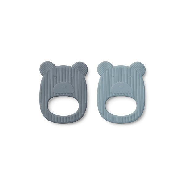 Geo Teether 2 Pack / Mr Bear Blue Mix