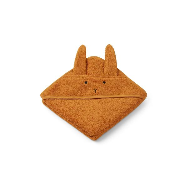 Albert Hooded Towel Rabbit Mustard