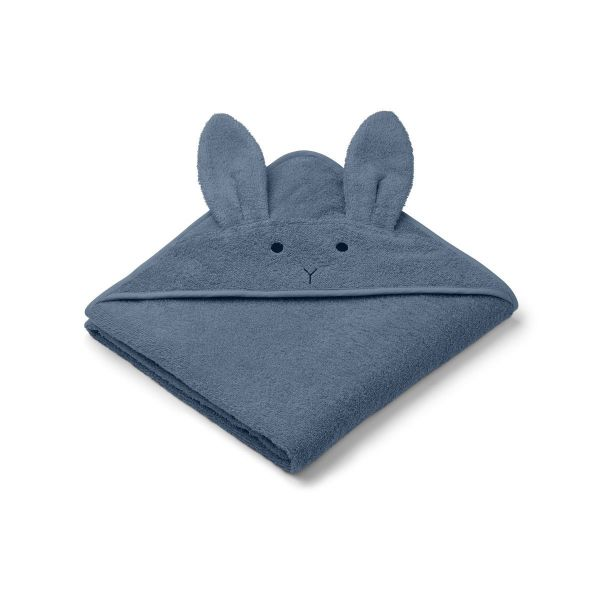Augusta Hooded Towel / Rabbit Blue Wave