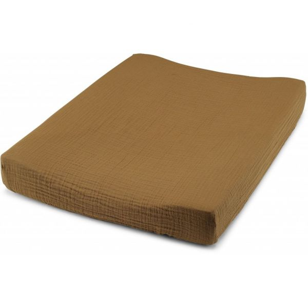 Fitted Sheet For Changing Cushion / Dark Honey