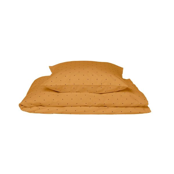 Carl Adult Bedding Print / Classic Dot Mustard