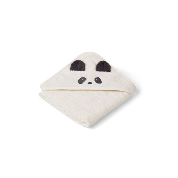 Albert Hooded Towel Panda Creme