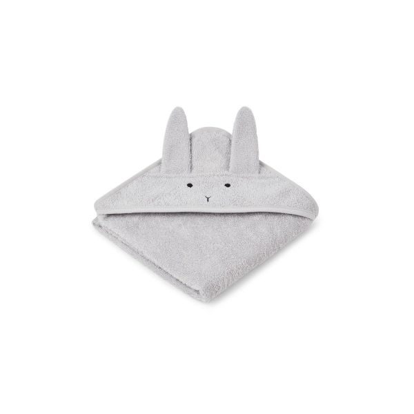 Albert Hooded Towel Rabbit Dumbo Grey