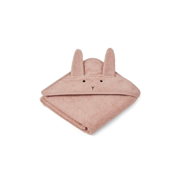 Albert Hooded Towel Rabbit Rose