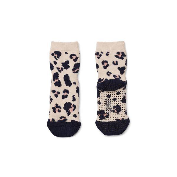 Nellie Anti slip socks / Leo Beige Beauty