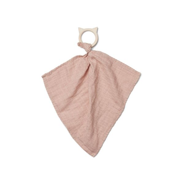 Dines teether cuddle cloth / Little dot rose