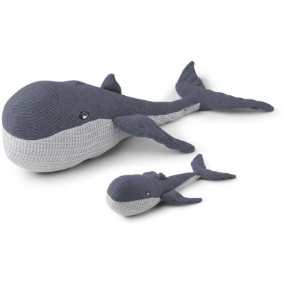 Doby Teddy With Baby / Whale Blue Wave