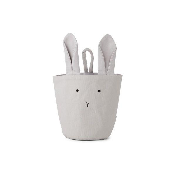 Ib Fabric Basket Rabbit Dumbo Grey