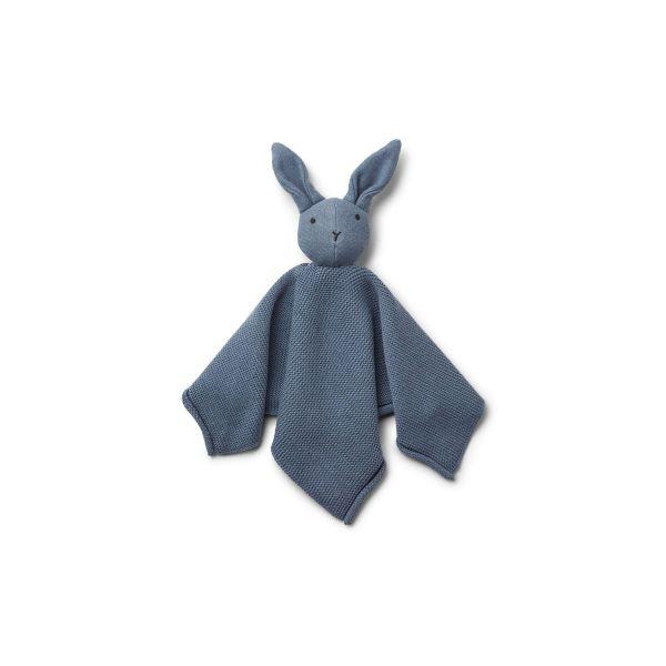 Milo Knit Cuddle Cloth / Rabbit Blue Wave