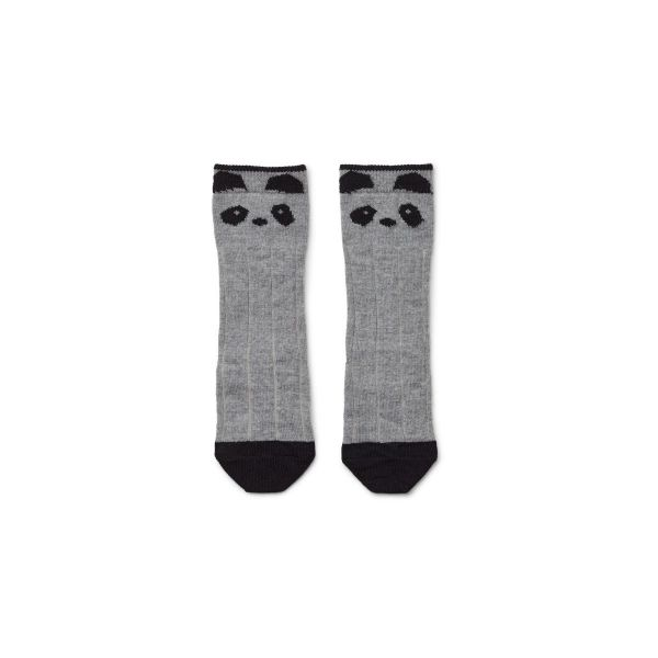 Sofia Wool Knee Socks Panda / Grey Melange
