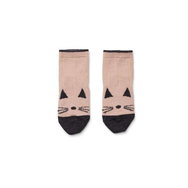 Silas Wool Socks Cat / Rose