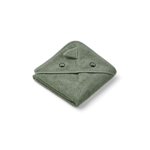Albert Hooded Towel / Dino Faune Green