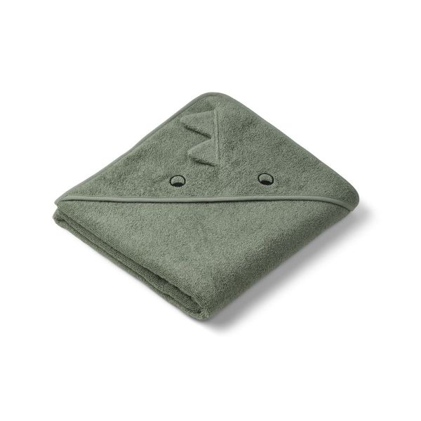 Augusta Hooded Towel / Dino Faune Green