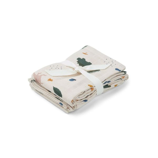 Hannah Muslin Cloth 2 Pack / Dino Mix