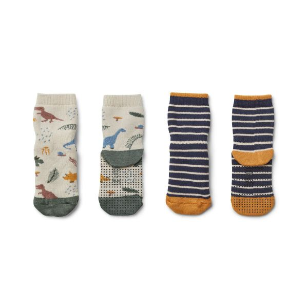Nellie Anti slip socks 2-pack / Dino Mix