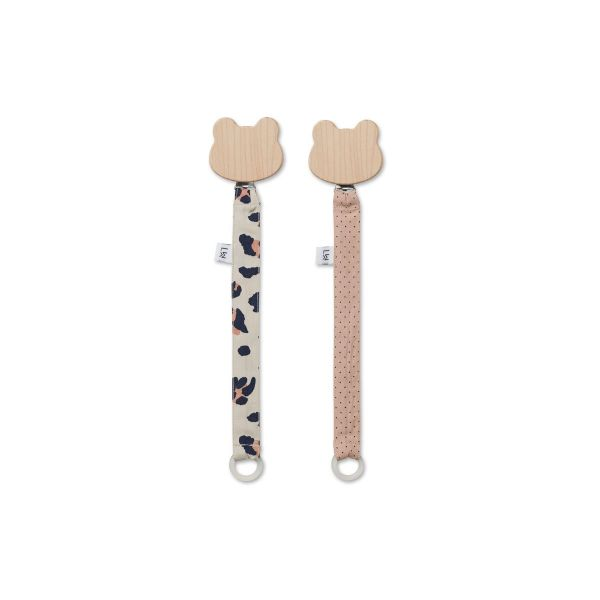 Sia Pacifier Strap 2-pack / Leo beige beauty