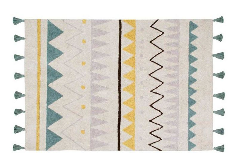 Washable Rug Azteca Natural Vintage / Blue Medium