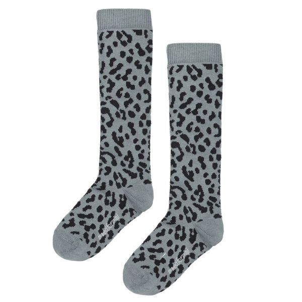 Blue Leopard Knee Socks