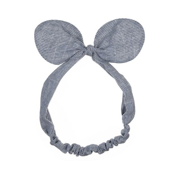 Minnie Bow Bando / Blue Stripes