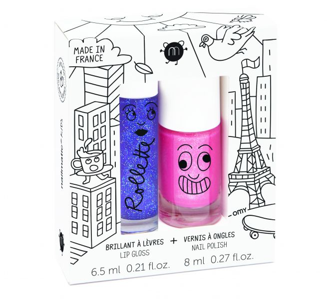 Nagellak op waterbasis & Lip gloss / Lovely City