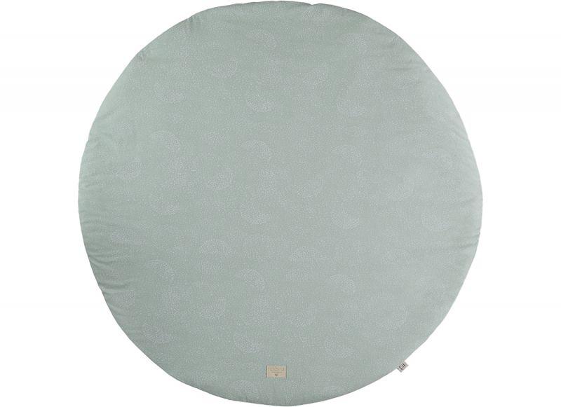 Fullmoon Large Round Playmat / White Bubble - Aqua