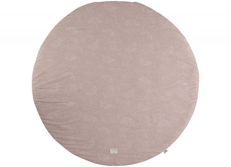 Fullmoon Large Round Playmat / White Bubble - Misty Pink