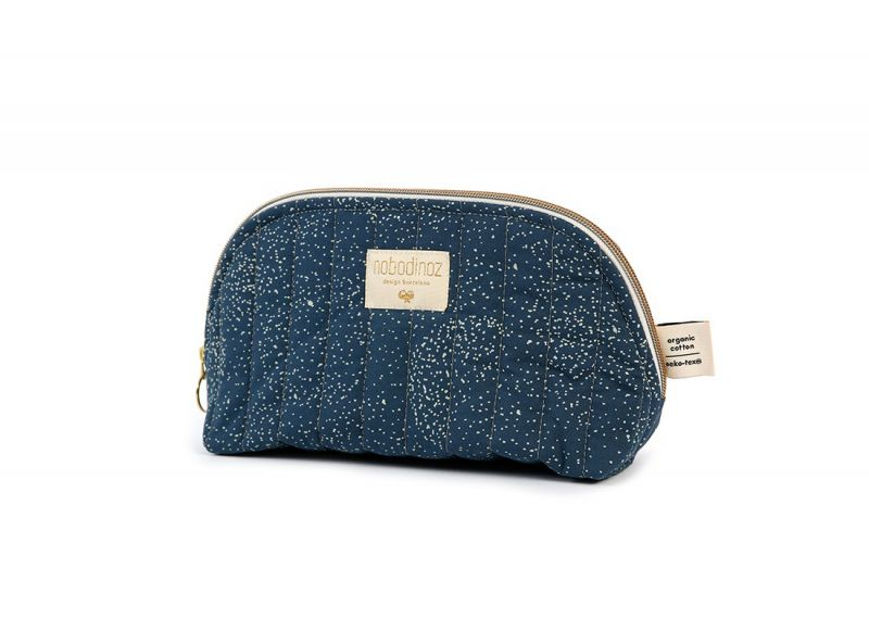 Holiday Vanity Case Small / Gold Bubble - night blue