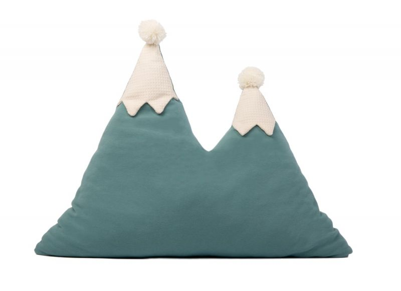 Snowy Mountain Cushion / Magic Green