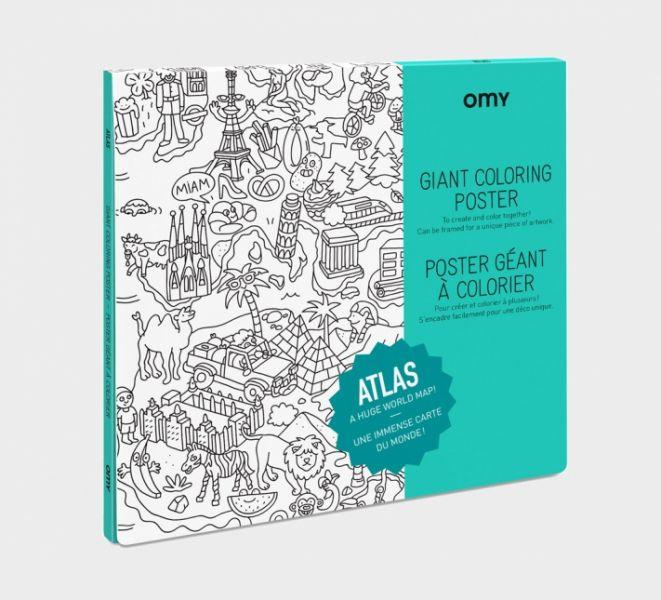 Grote Inkleurposter / Atlas