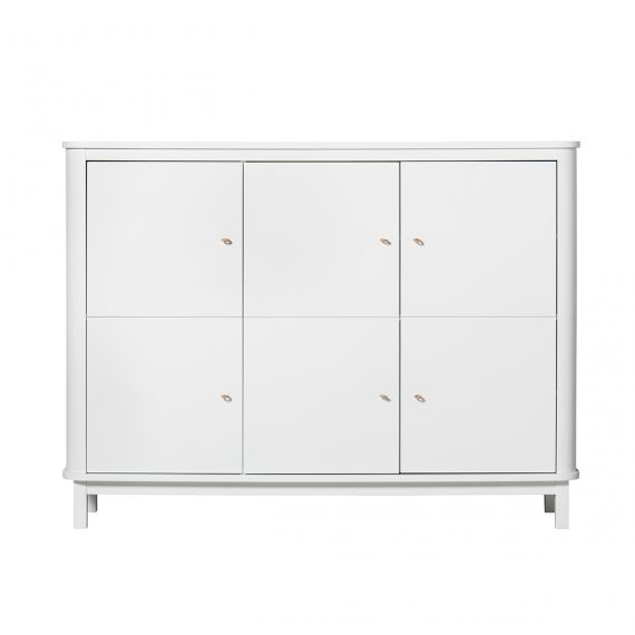 Wood Multi cupboard 3 doors / White