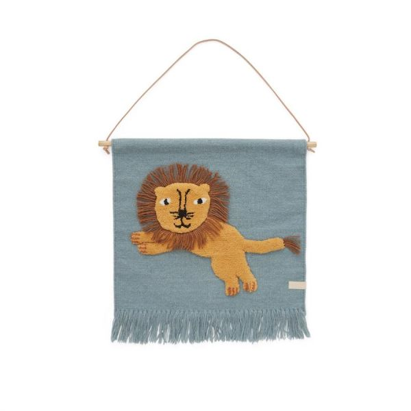 Jumping Lion Wallhanger / Tourmaline