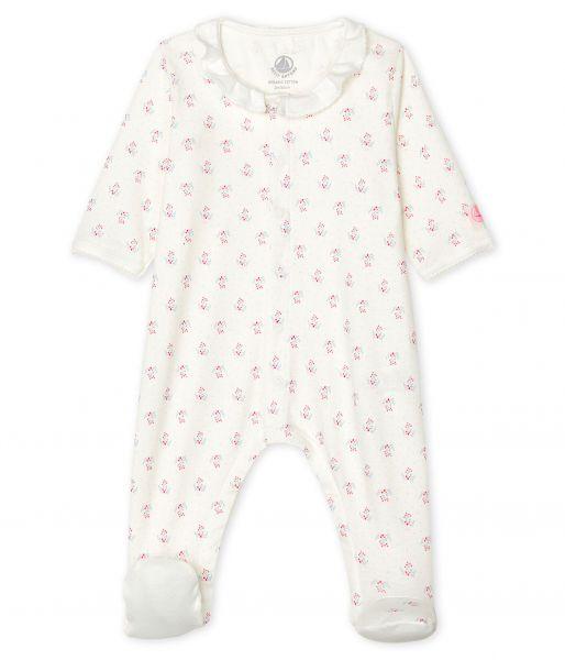 Pyjama met voetjes / bloemetjes