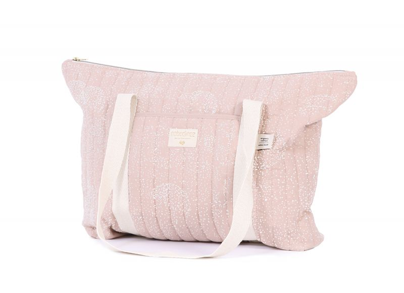Paris Maternity Bag / White Bubble - Misty Pink