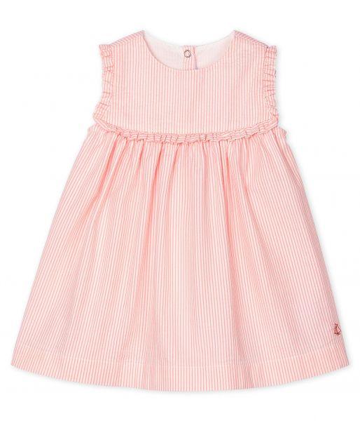 Mouwloos jurkje met strepen