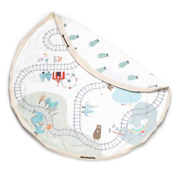 Speeltapijt + opbergzak / Trainmap - Bears
